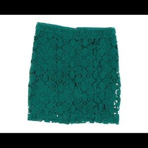 Exclusive for Intermix Green Lace mini skirt